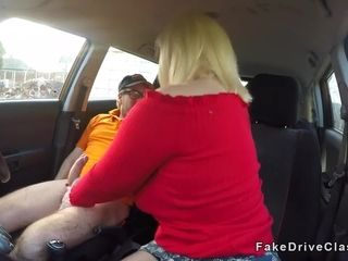 Mature lady with huge tits fucks instructor