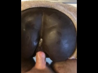 Fucking my Ebony toy while Wife sleeps